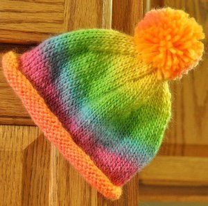 Rainbow Rolled Brim Hat