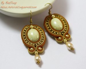 Golden Soutache Earrings