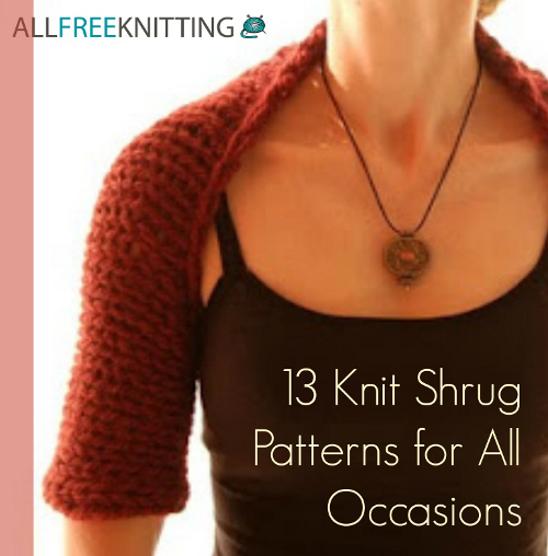 Knitting Pattern For Bolero Shrug : 13+ Knit Shrug Patterns For All Occasions AllFreeKnitting.com