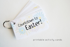 Countdown to Easter Activity Cards