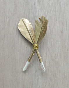 Golden Arrow Boutonnieres