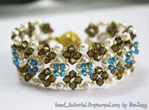 Crystal Flower Bed Bracelet