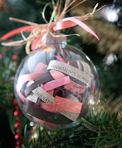Wedding Invitation Keepsake Ornament
