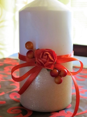 Autumn Harvest Pillar Candle