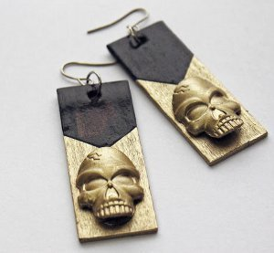 Chic Dollar Store Skull Earrings