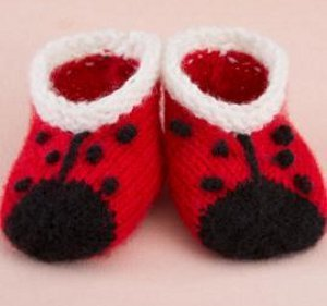 Little Lady Bug Baby Booties