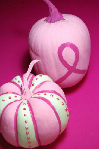 Breast Cancer Awareness Pumpkin