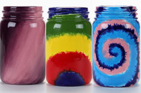 Magical Tie-Dye Mason Jars