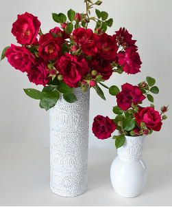 Dainty Lace Vases