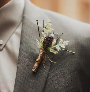 Twisted Twine Boutonniere