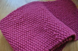 Pink Baron Seed Stitch Scarf Allfreeknitting Com