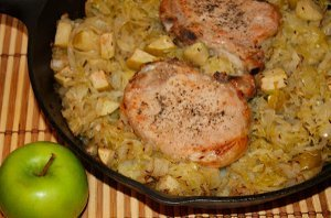 Pork Chop and Sauerkraut Casserole