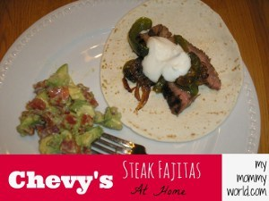Make Your Own Chevy's Steak Fajitas