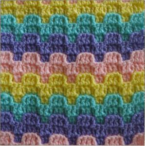 Bargello Crochet Stitch Pattern