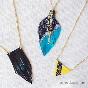 Dynamite Duct Tape Necklace Trio