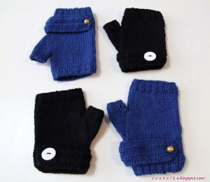 Banded Fingerless Mitts