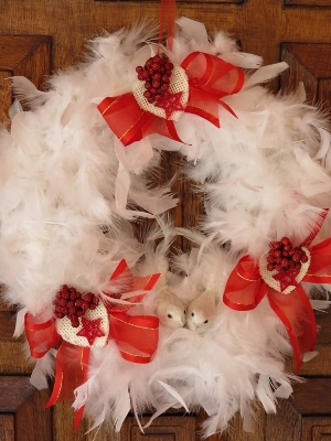 Two Turtle Doves Wreath