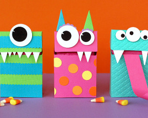 Adorable Monster Halloween Treats Bags