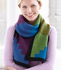 Knit Paintbox Scarf