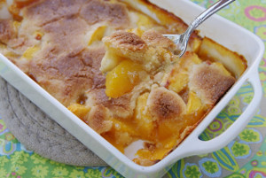 Brandied Peach Cobbler