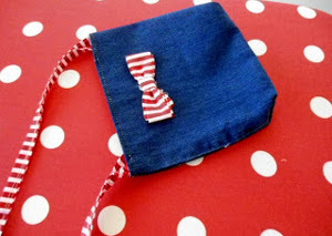 Recycled Denim Christmas Purse