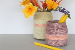 DIY Twine Wrapped Jar Vase