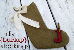 Burlap Stocking Decorations