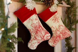 "Victorian ""Quilted"" Stocking"