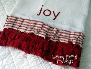 Ruffled Flour Sack Dishtowels