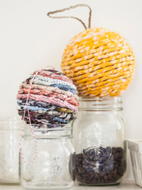 Recycled Twist Wrapped Ball Ornaments