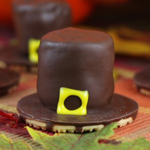 Pilgrim Hat Thanksgiving Cookies