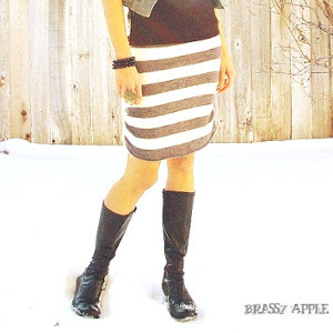 Incredibly Simple Refashioned Sweater Skirt