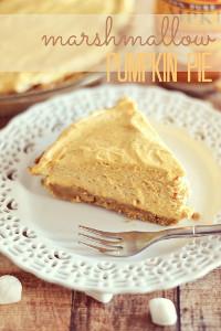 Impossibly Fluffy Marshmallow Pumpkin Pie