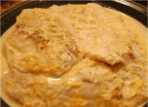Slow Cooker Tilapia with Garlic Cheese Sauce