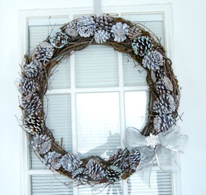 Glamorous Pine Cone Wreath