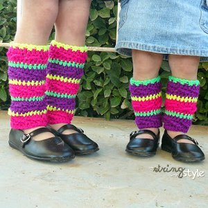 Traditional Crochet Leg Warmers