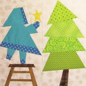 Sweet Sunbonnet Sue Tops the Tree Block