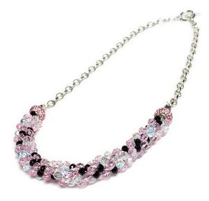 Briella Pink Kumihimo Necklace