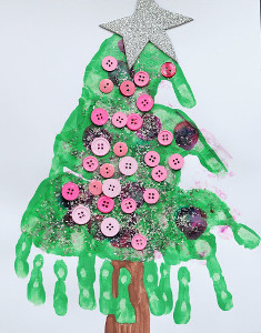 Adorable Handprint Christmas Trees