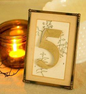 Gilded DIY Table Numbers