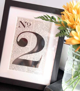 A Tale of Love Table Numbers