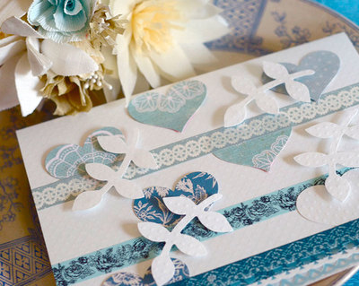 Lovely and Lacy Wedding Card