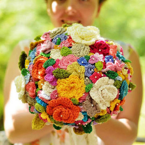 Vintage Crochet Wedding Bouquet