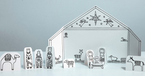 Paper Nativity Scene Printables