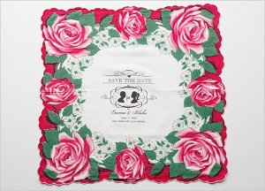 Vintage Save the Date Hankies