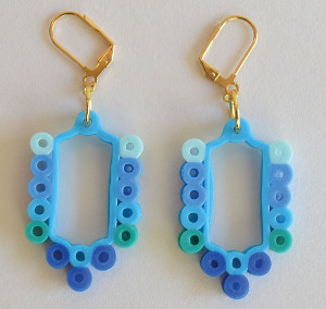 Crazy Cute Perler Bead Earrings