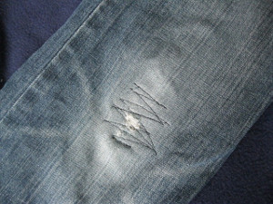 Patching Jeans in Minutes Tutorial