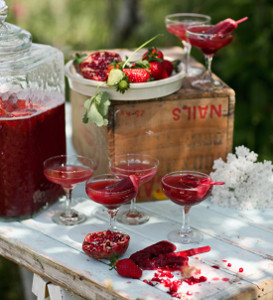 Succulent Strawberry Pomegranate Punch
