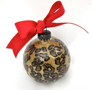 Safari painted glass ornaments for Painted glass ornaments crafts