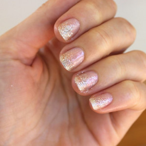 Falling Glitter Nail Design